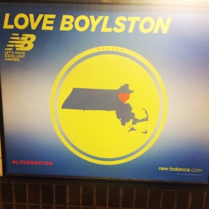 Spotted this awesome New Balance ad in the T station. #LoveBoylston